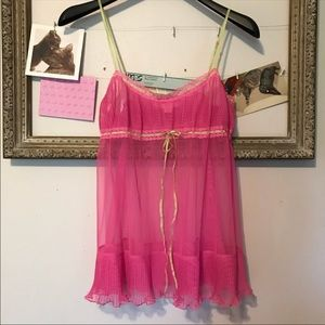 Victoria's Secret pink babydoll chemise size small